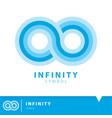 infinity icon symbol vector image
