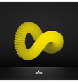 Infinity symbol Abstract 3d design element vector image