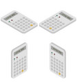 isometric math calculator for education vector image vector image