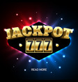 jackpot 777 lucky triple sevens jackpot casino vector image vector image