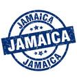 jamaica blue round grunge stamp vector image vector image