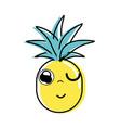 Kawaii cute funny pineapple vegetable