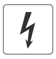 Lightning icon Electricity bolt sign vector image vector image