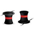 magician hats vector image vector image
