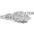 medication word cloud concept vector image vector image