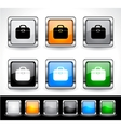 metal square button vector image vector image