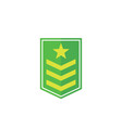 military rank army epaulettes icon on white vector image vector image