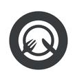 Monochrome round tableware icon vector image