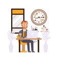 office manager at work creative coffee break vector image vector image