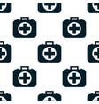 pattern of the first aid kit isolated on white vector image vector image