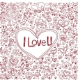 pink heart background for valentine day vector image