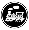 railway delivery symbol with train vector image vector image