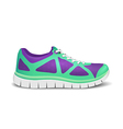 Realistic bright sport shoes for running vector image vector image