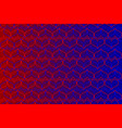 red and blue heart pattern vector image
