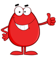 Red Easter Egg Cartoon Character Showing Thumbs Up vector image vector image