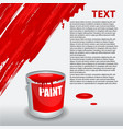 red paint dripping on the wall editable template vector image