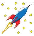 Rocket toy vector image