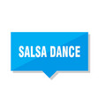 salsa dance price tag vector image vector image