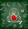 school bag doodle image vector image vector image