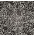 Seamless floral paisley pattern with butterflies