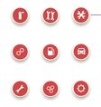 set of round icons for car service vector image