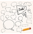 set of talk and think bubbles with yellow vector image