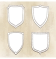 Set of vintage shields vector image vector image