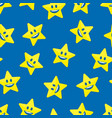 stars with smile background vector image