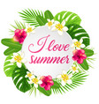summer background with red flowers vector image vector image