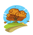 Tree by the road vector image vector image