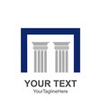 two pillars with a capital n square letter vector image vector image