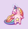 volume rainbow unicorn vector image vector image