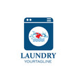 washing clothes logo icon laundry service vector image vector image