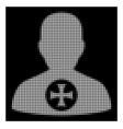 white halftone hero medal icon vector image