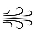 wind icon simple black style vector image vector image