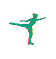women figure skating isolated icon vector image