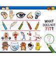wrong element preschool game vector image vector image