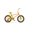 yellow bike with training wheels kids bicycle vector image