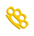 Yellow knuckles icon flat style vector image vector image