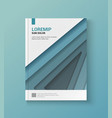 Modern blue cover of the annual report vector image