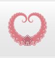 heart house logo icon vector image