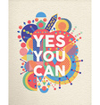 Yes you can quote poster design vector image