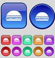 Hamburger icon sign A set of twelve vintage vector image