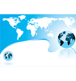 abstract world map and earth globe vector image