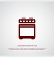 oven icon simple vector image