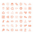 49 teamwork icons vector image vector image