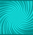 abstract comic whirl turquoise background vector image