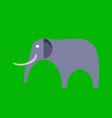 african bull elephant with tusks logo vector image vector image