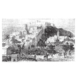 Algiers city vintage engraving Capital of Algeria vector image