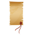antique or old paper roll vertical scrolls vector image